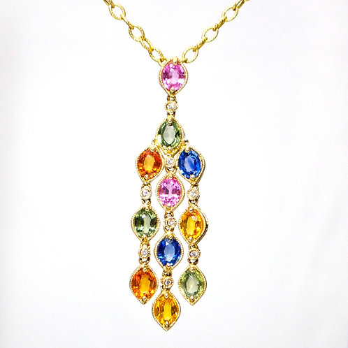 SAPPHIRE PENDANT AND CHAIN
