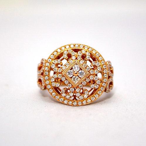 DIAMOND MEDALLION RING