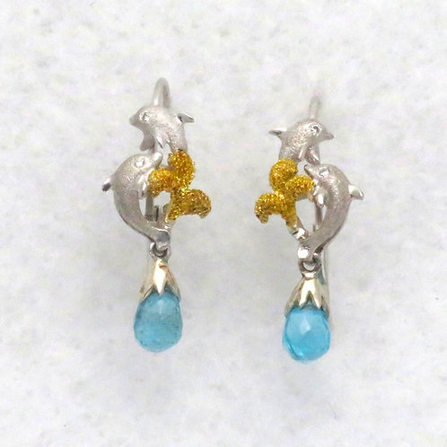 DOLPHIN & APATITE BRIOLETTE EARRINGS