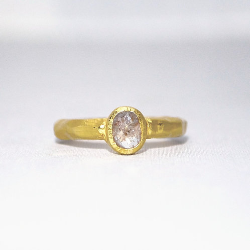 PINKISH WHITE RUSTIC DIAMOND RING