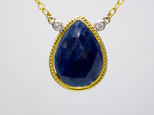 SAPPHIRE SLICE NECKLACE
