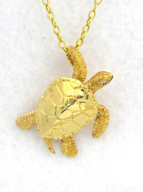 14K YELLOW GOLD SEA TURTLE