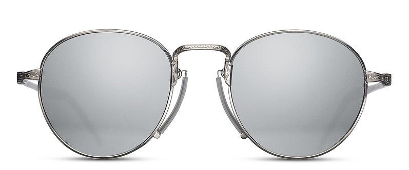 Semi-Round Sunglasses with Pince-nez Bridge