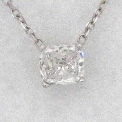CUSHION CUT DIAMOND SOLITAIRE NECKLACE