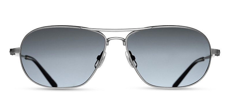 Wide Silver Grey Polarized Glass Lens