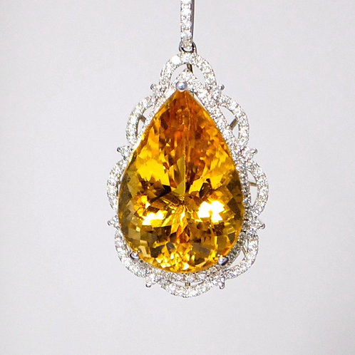 GOLDEN BERYL PENDANT & CHAIN