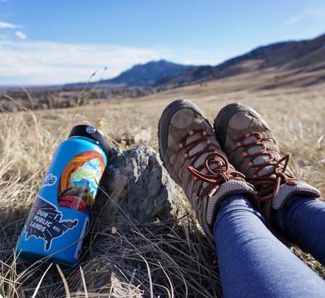 Hydroflask & Merrell Moab Boots