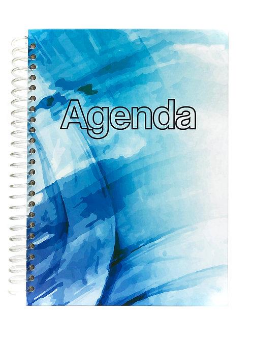 Agenda Semanal Azul Abstracto