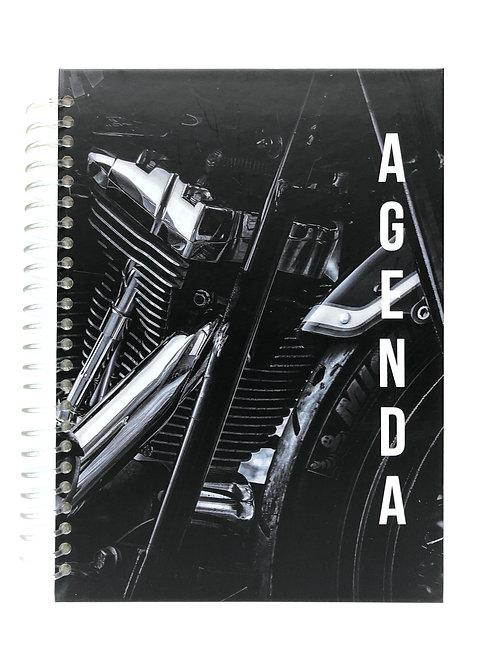 Agenda Semanal Negro Motocicleta