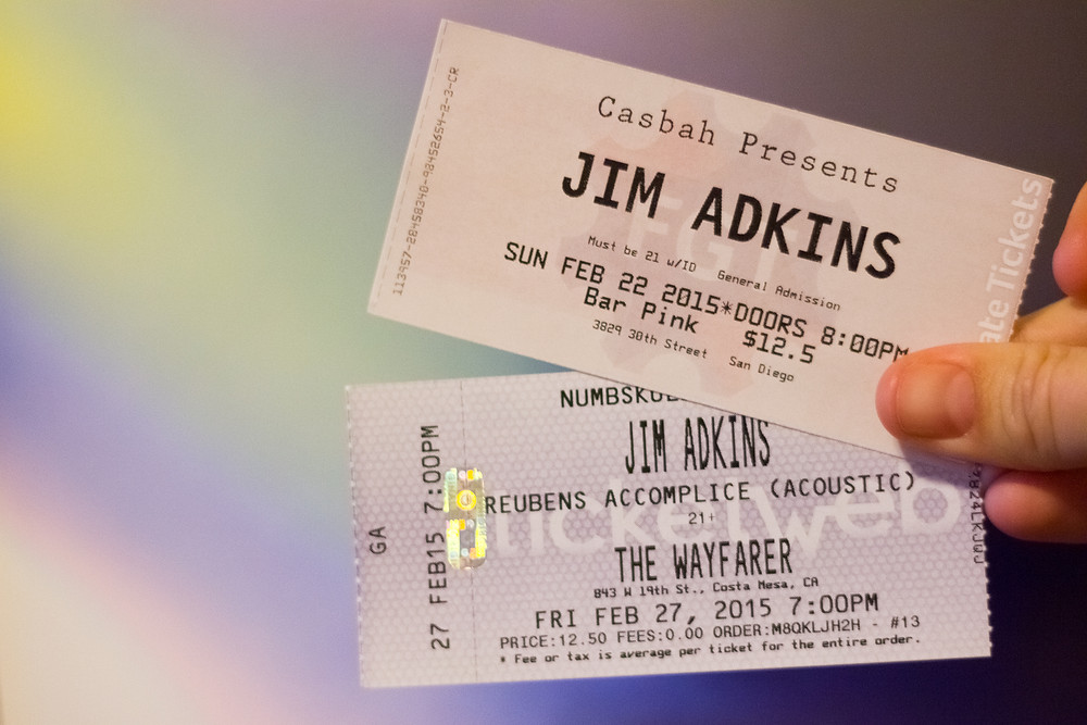 Jim Adkins, Reubens Accomplice, Concert Tickets,
