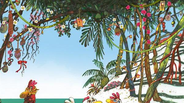 Les P'tites Poules T.14 ; les P'tites Poules sur l'île de Toutégratos (édition s