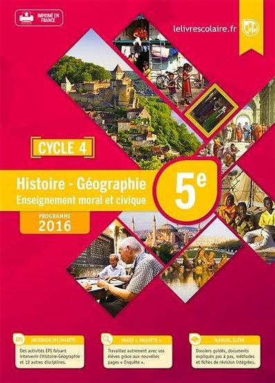 Histoire-géographie-EMC ; 5e (édition 2016)