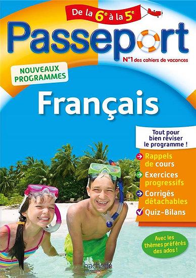 Passeport ; français ; de la 6e à la 5e