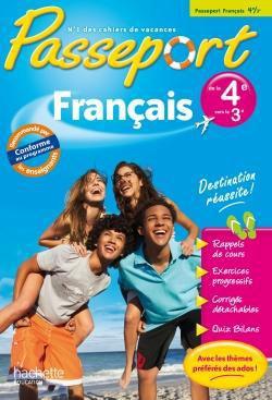 Passeport ; français ; de la 4ème à la 3ème ; cahier de vacances