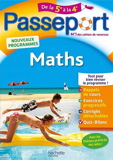 Passeport ; maths ; de la 5e à la 4e