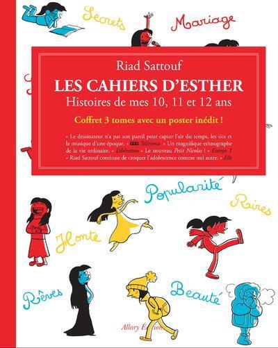 Les cahiers d'Esther ; COFFRET T.1 A T.3 ; histoires de mes 10, 11 et 12 ans (av
