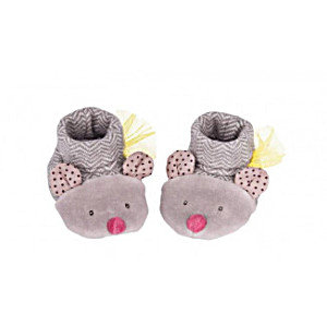 Chaussons Souris Grise - Moulin Roty Les Pachats