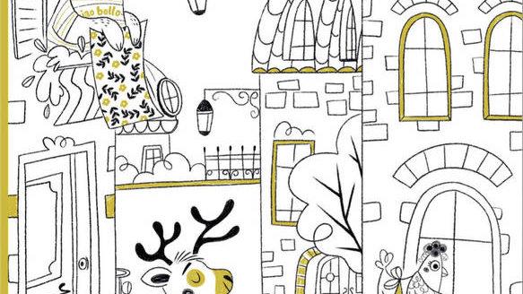 A petits pas... dans la ville (une histoire à colorier) / Lili la Baleine