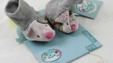 CHAUSSONS SOURIS GRIS MOULIN ROTY