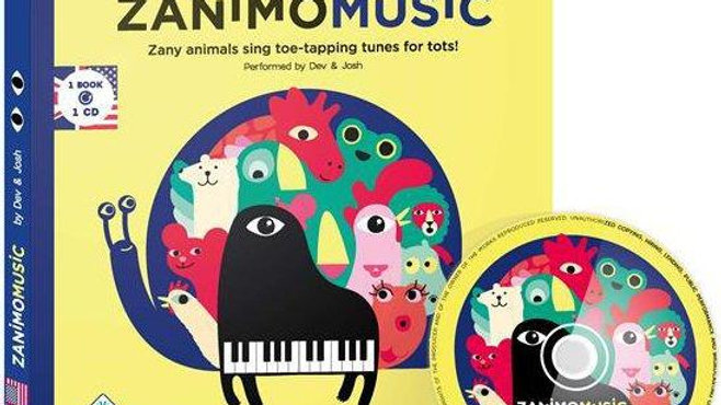 Zanimomusic ; zany animals sing toe-tapping tunes for tots! (édition en langue a