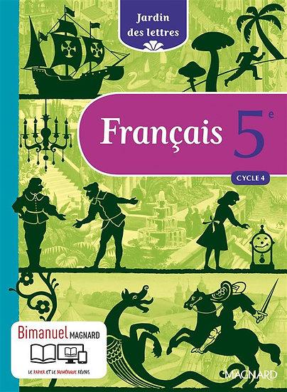 Jardin des lettres ; français ; cycle 4 ; 5ème ; bimanuel (manuel + version numé