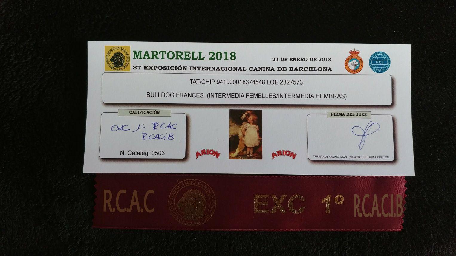 PARIS: EXC1 RCAC RCACIB MARTORELL INTERNACIONAL 2018
