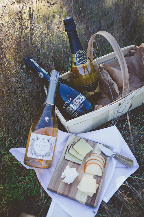 Celebratory Wine & Cheese Basket