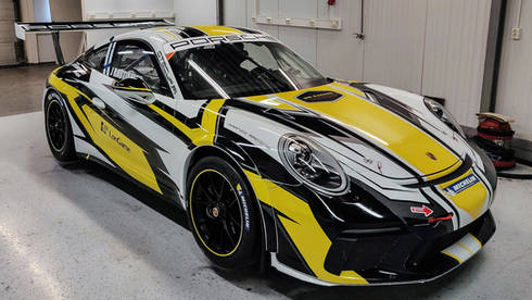 Porsche Gt3 911 rata-auton teippaus & suunnittelu