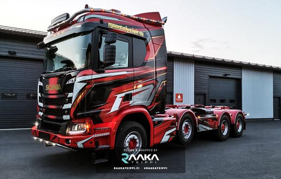 Maantiekiitäjät Scania teippaus