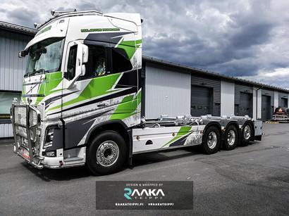 Volvo kuorma-auton teippaus