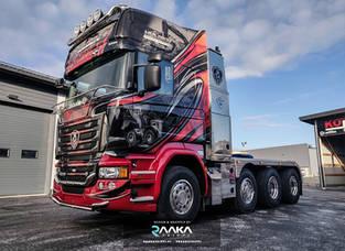 Scania rekan teippaus ja suunnittelu