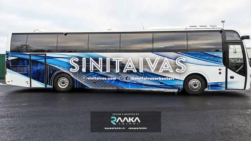 Bussin teippaus ja suunnittelu