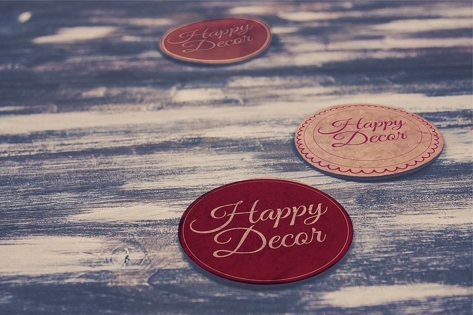 Логотип для студии декора happy Decor - Media Quant Studio
