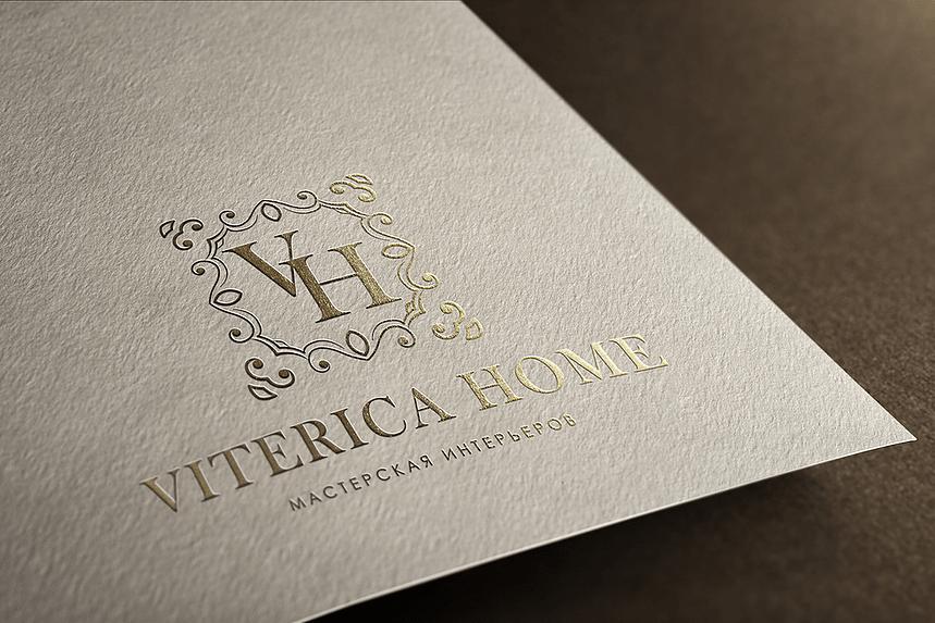 Логотип для дизайна интерьеров VITERICA - Media Quant Studio