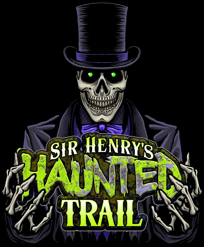 Sir Henrys Haunted Trail Logo and Charac
