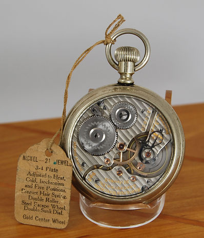 Hamilton 992 Pocket Watch with Salesman Display Case and Original Sales Tag