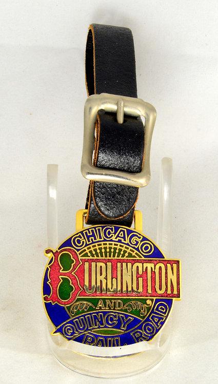 Burlington & Quincy Railroad Pocket Watch Fob