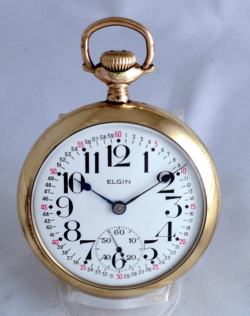 1902 Elgin Veritas Pocket Watch Size 18 - 21 Jewel