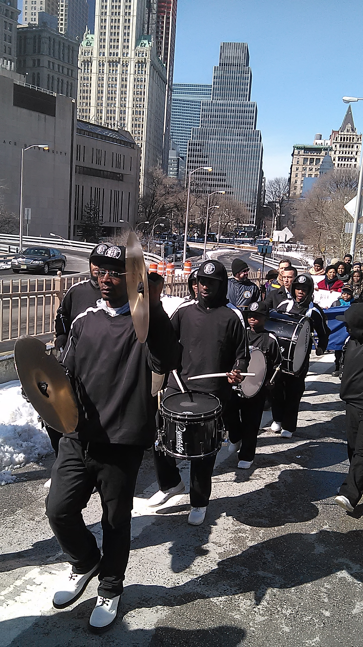 50th Anniversary March over Brooklyn Bridge 2-7-15_Brooklyn United Marching Band.jpg