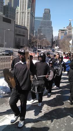 50th Anniversary March over Brooklyn Bridge 2-7-15_Brooklyn United Marching Band.jpg