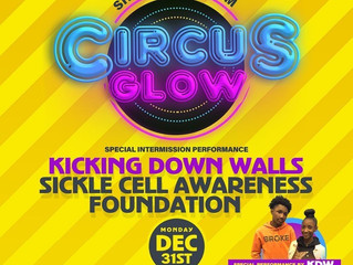 Sickle Cell Awareness at Circus Glow