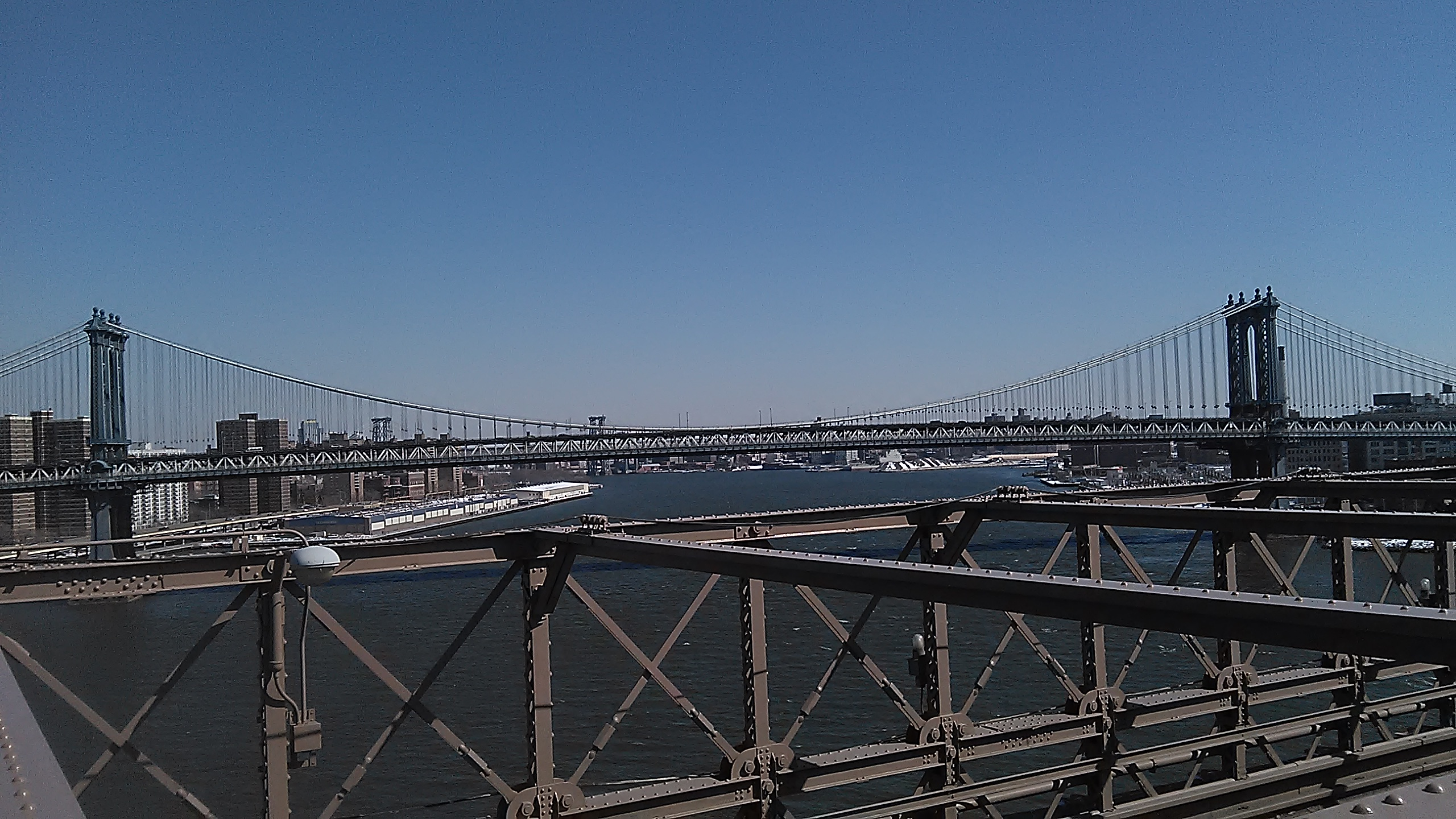 50th Anniversary March over Brooklyn Bridge 2-7-15_Manhattan Brige View.jpg