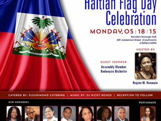 Councilman Jumaane Williams hosts Haitian Flag Day at Brooklyn Borough Hall Monday May 18, 2015
