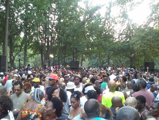 The Soul Summit Music Festival yesterday at Fort Greene Park, Village of Brooklyn, Stand Up ! Nuff s