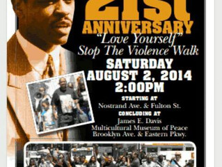 """This Saturday ! The 21st Anniversary of the """"Love Yourself, Stop the Violence Peace Walk"""""""