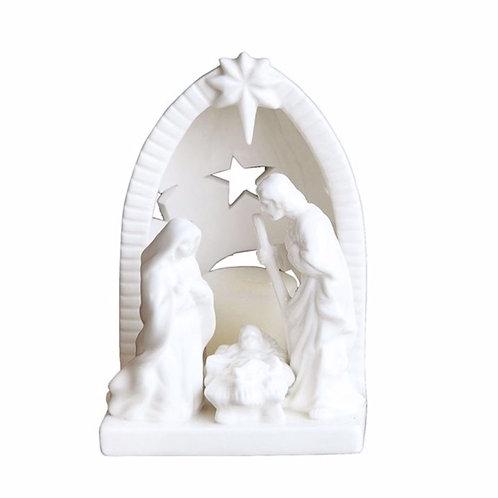 Ceramic Nativity Tealight Holder