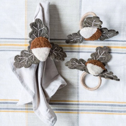 Wool Felt Acorn Napkin Ring