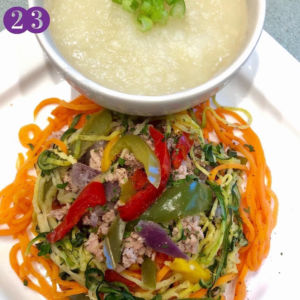 Whole30 Day Twenty-Three:  Ground Turkey & Veggies with a side of Potato Onion Soup