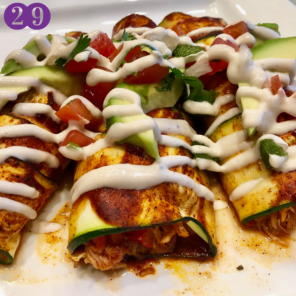 Whole30 Day Twenty-Nine:  Chicken Zucchini Enchiladas