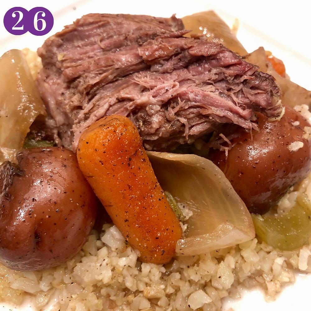 Whole30 Day Twenty-Six:  Sunday Pot Roast